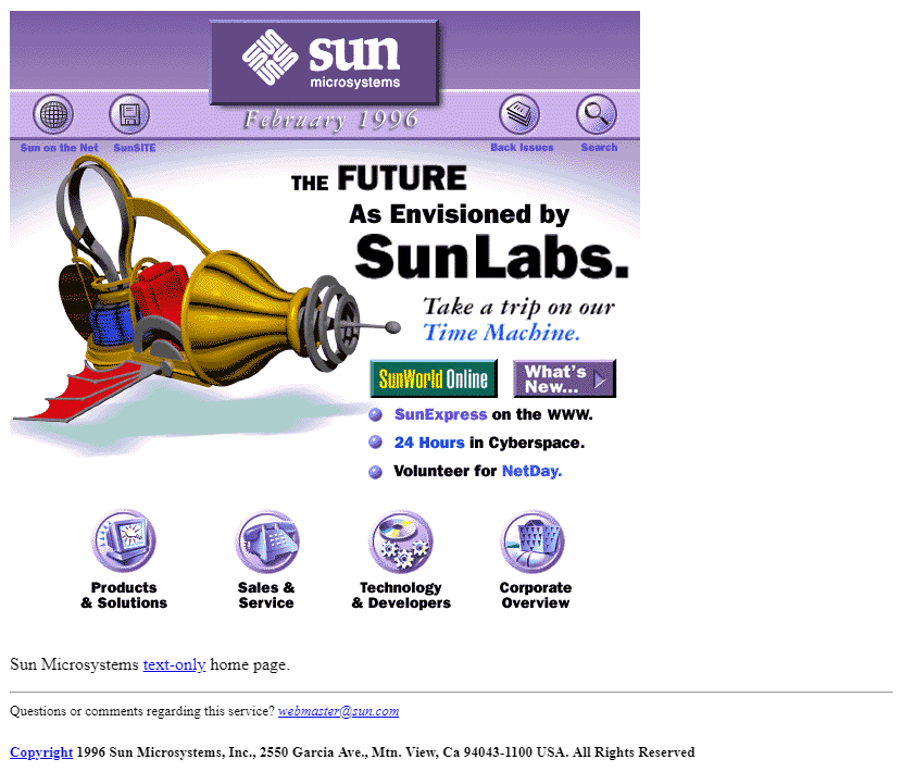 Sun Microsystems in 1996