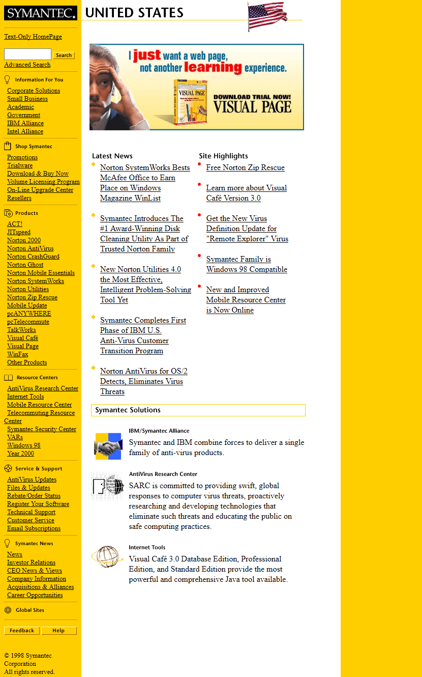 Symantec in 1999