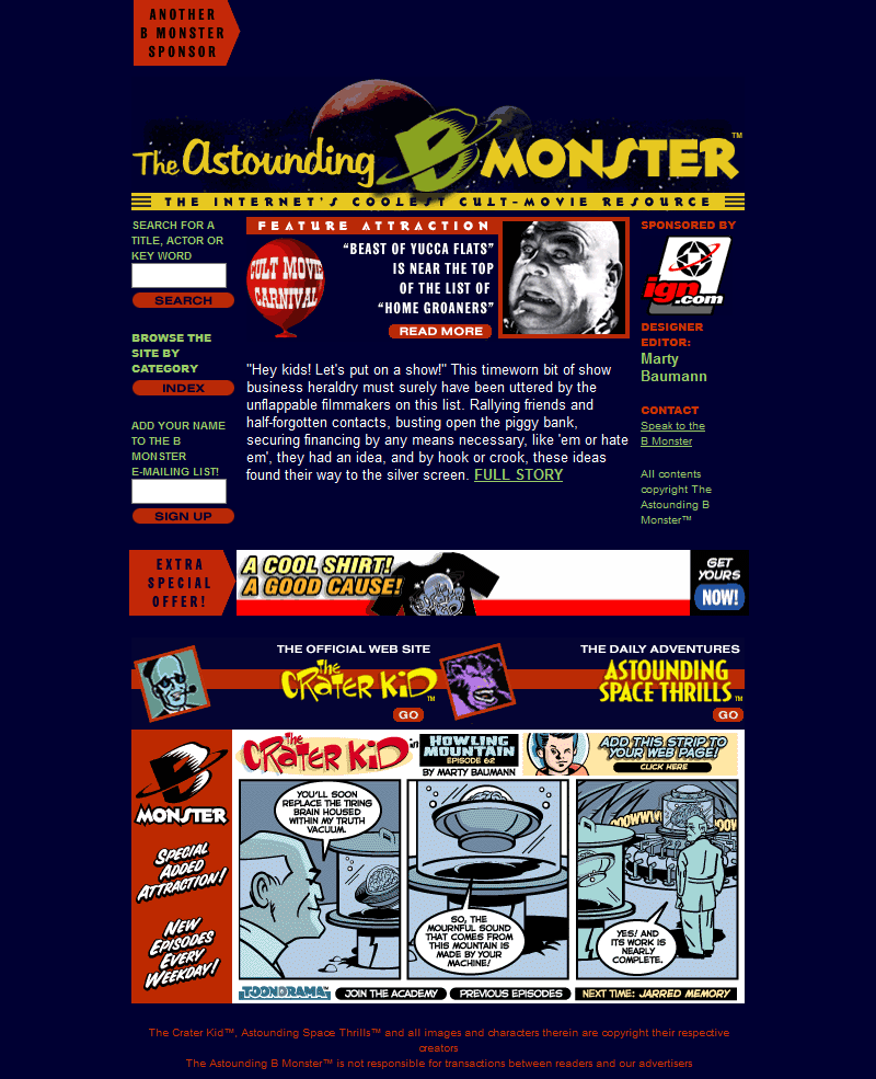 The Astounding B Monster in 2000