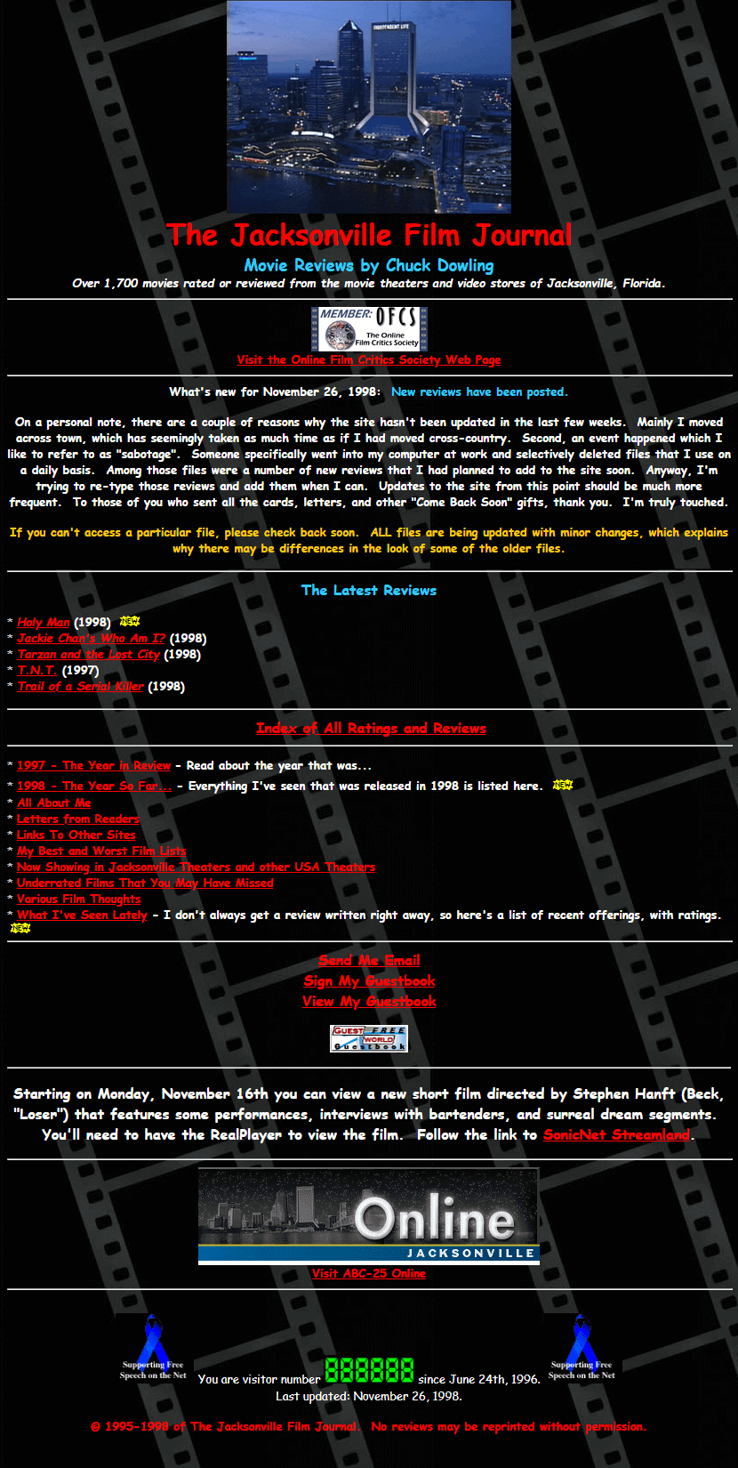 The Jacksonville Film Journal in 1998