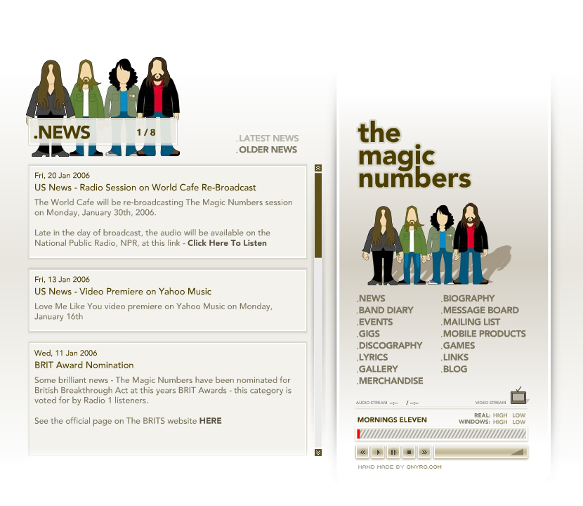 The Magic Numbers in 2006