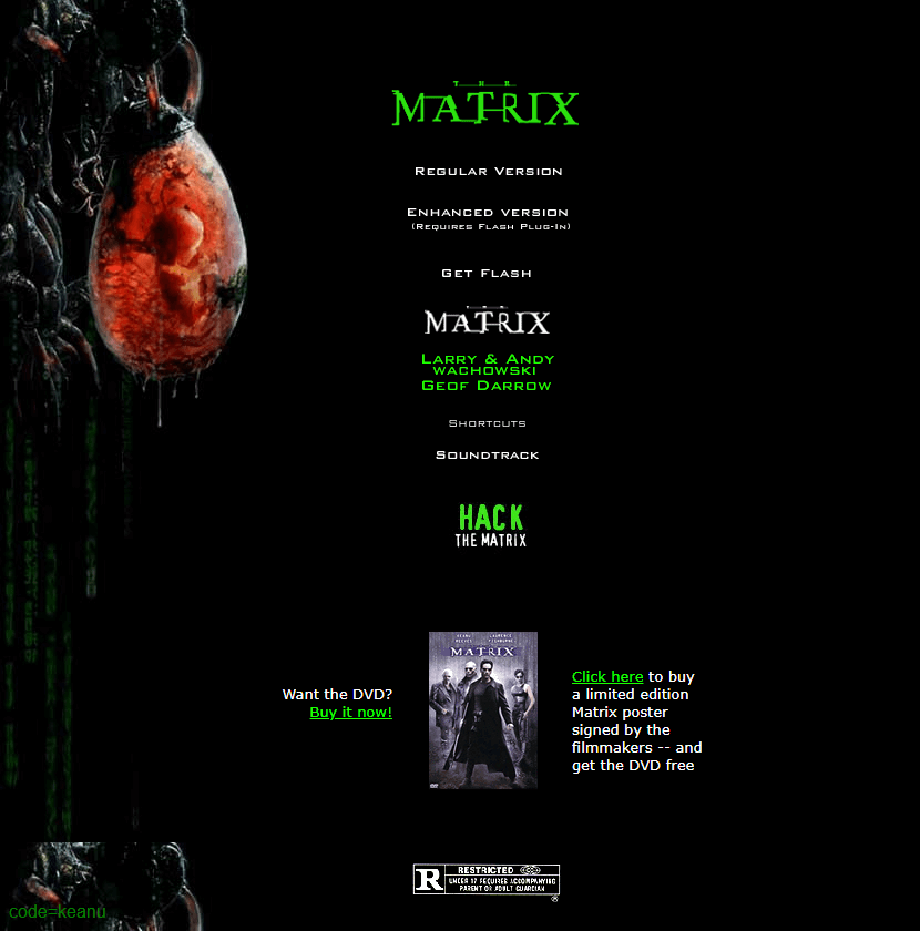 The Matrix in 1999
