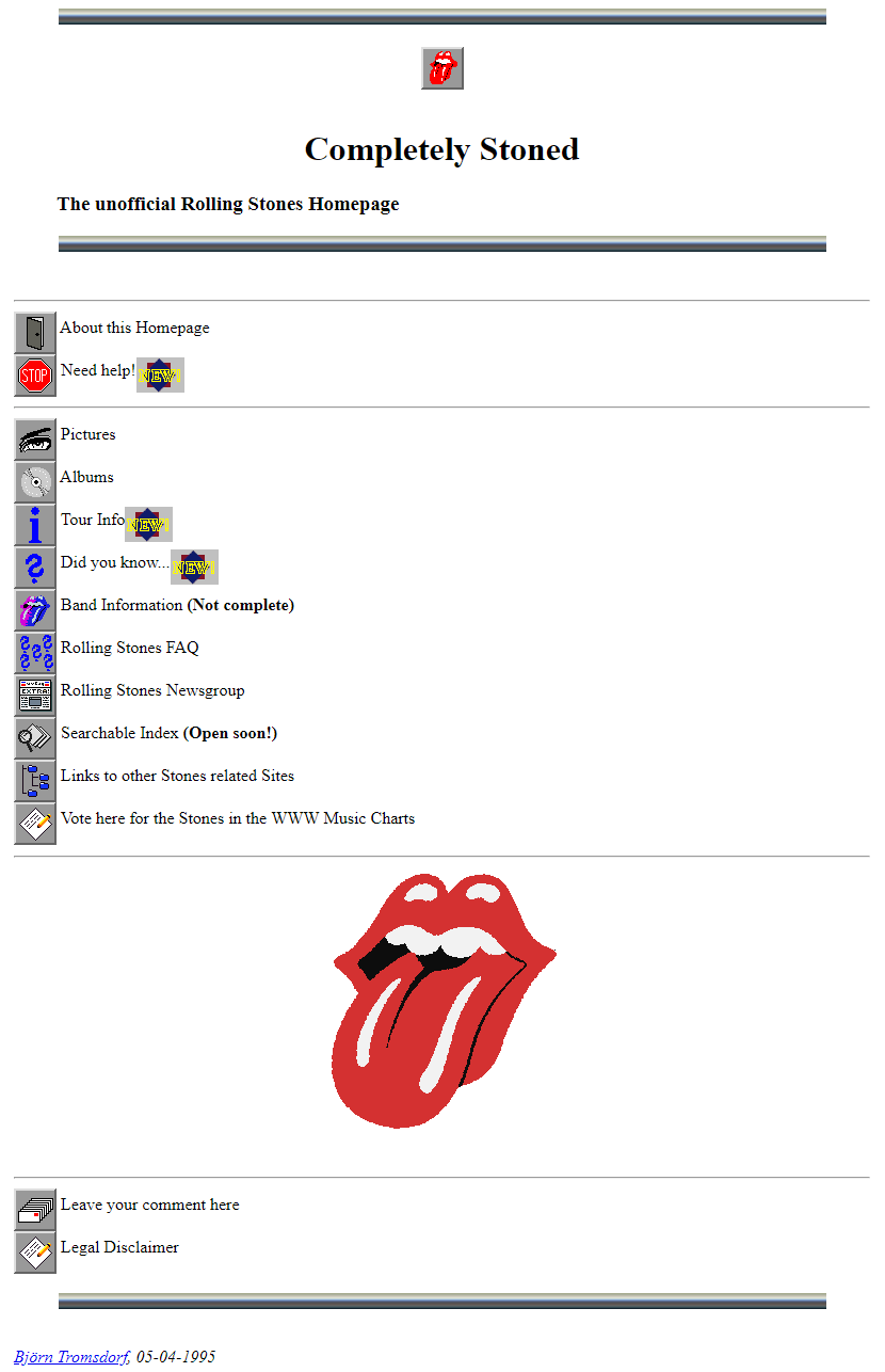 The Unofficial Rolling Stones in 1995