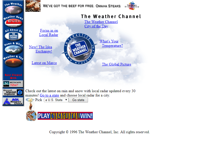 The Weather Channel in 1996