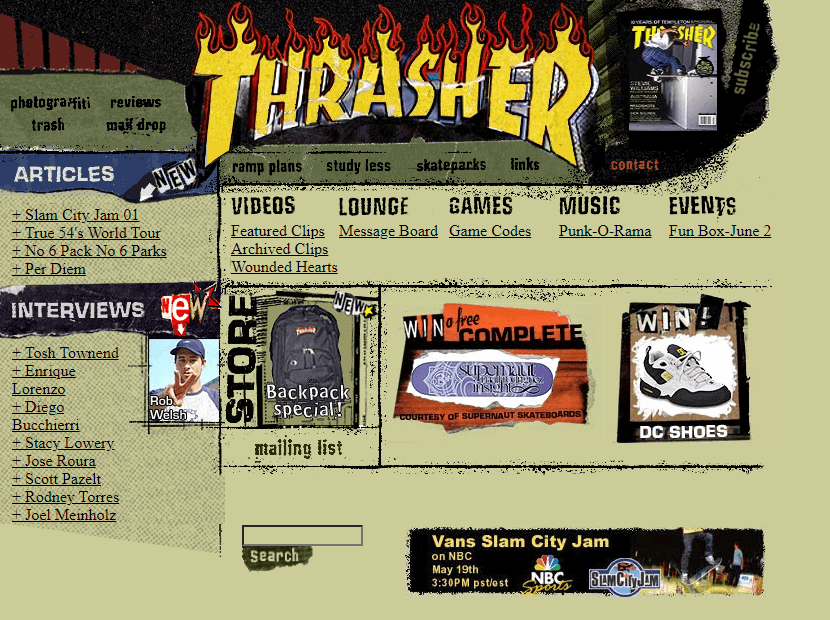 Thrasher Magazine in 2001