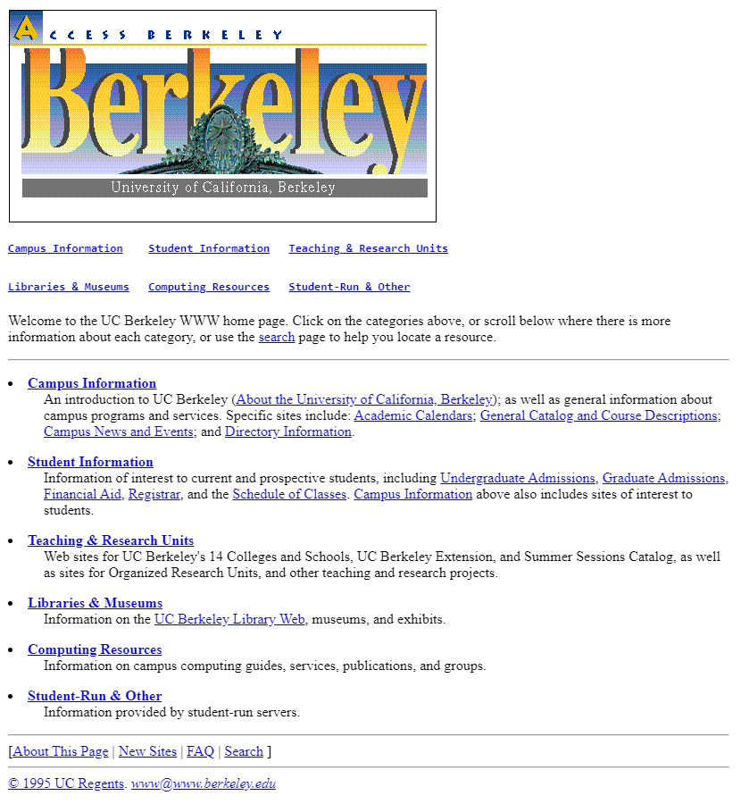 University of California, Berkeley in 1995