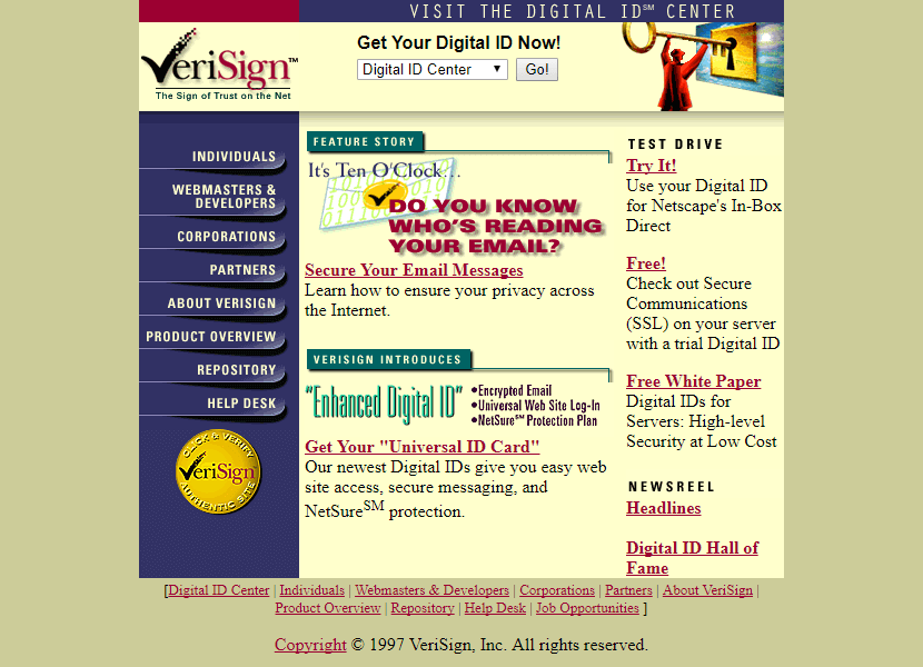 VeriSign 1997