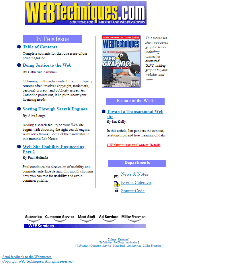 Web Techniques in 1997