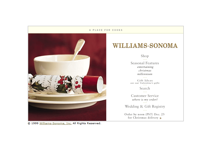 Williams-Sonoma in 1999