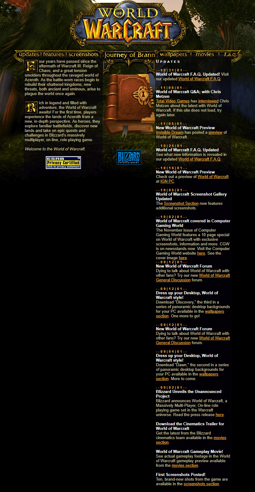 World of Warcraft in 2002
