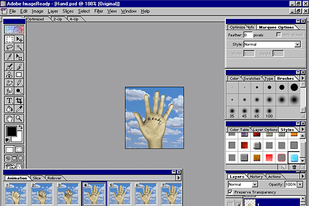 Adobe ImageReady 2.0 – Hand Animation