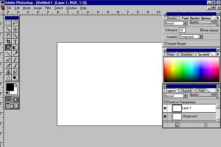 Adobe Photoshop 3.0 – Tabbed Palettes
