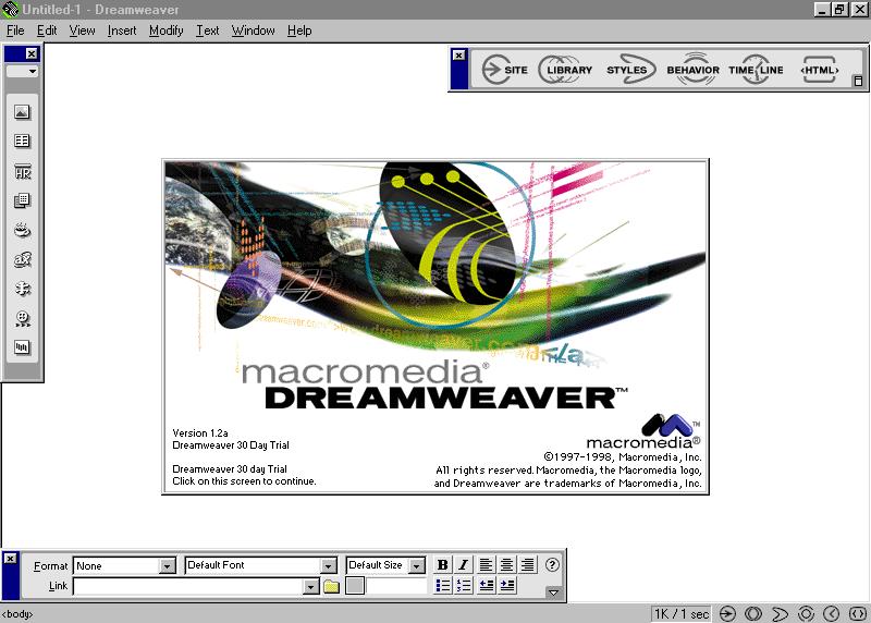 Macromedia Dreamweaver 1 2 Web Design Museum