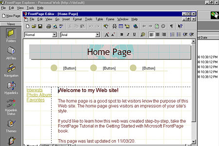 FrontPage Editor Homepage