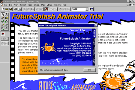 About FutureSplash Animator