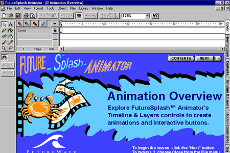 FutureSplash Animator – Animation Overview