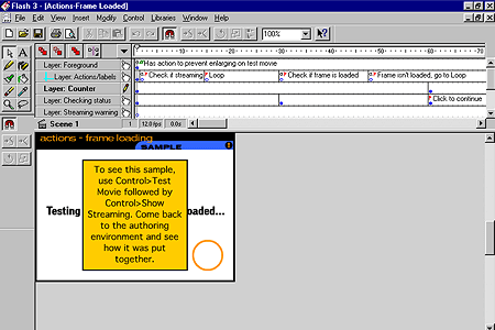 Macromedia Flash 3.0 – Actions-Frame Loaded