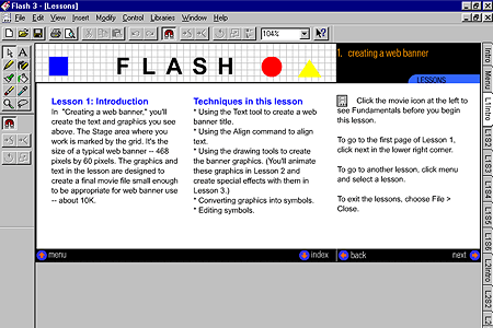 Macromedia Flash 3.0 – Lessons - Introduction