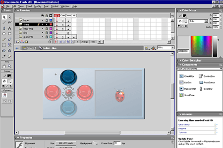 Macromedia Flash MX – Button Component