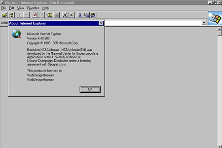 Internet Explorer 1.0 | Web Design Museum