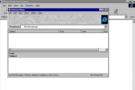 Internet Explorer 4.0 – Internet News