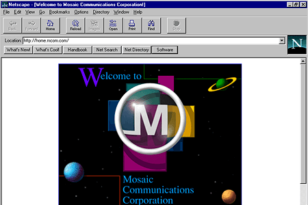 Netscape Navigator 2.01 – Mosaic Communications Corporation