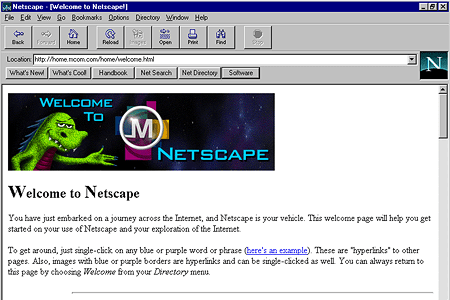 Netscape Navigator 2.01 – Welcome to Netscape
