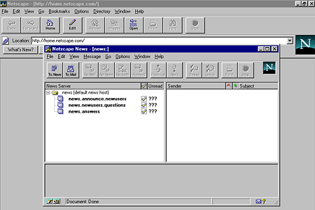 Netscape Navigator 3.04 Gold – Netscape News