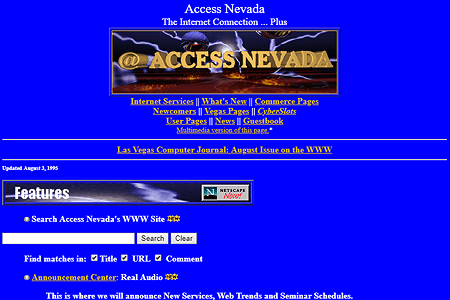 Access Nevada in 1995