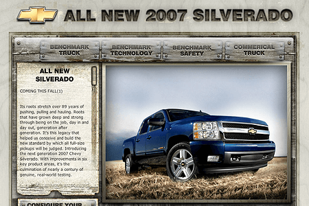All New 2007 Silverado in 2006