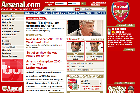 Arsenal F.C. in 2003