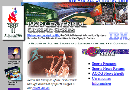 Atlanta Olympic Games in 1996