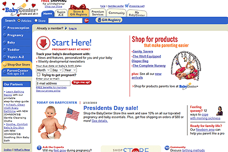 BabyCenter in 2003
