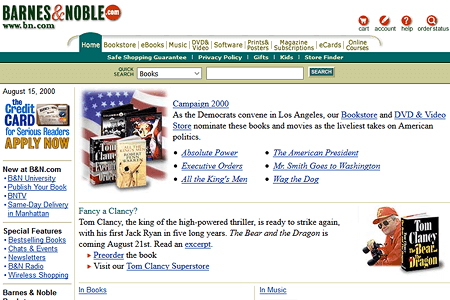 Barnes & Noble in 2000