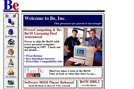 Be, Inc. in 1996