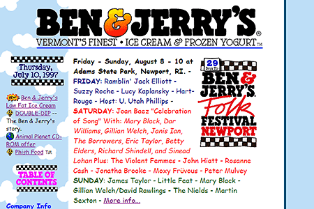 Ben & Jerry's in 1997