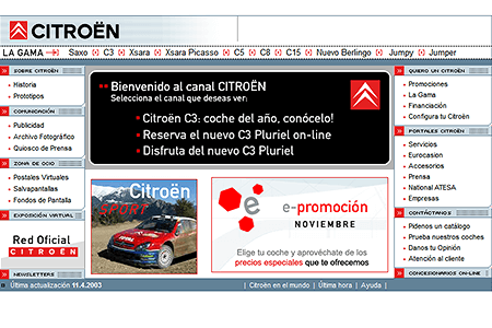 Citroën Spain in 2003