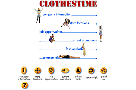Clothestime in 1996