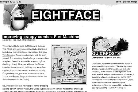 Eightface in 2005