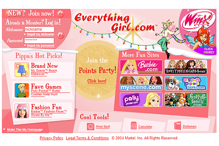 EverythingGirl.com in 2004