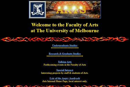 Faculty of Arts - University of Melbourne in 1995