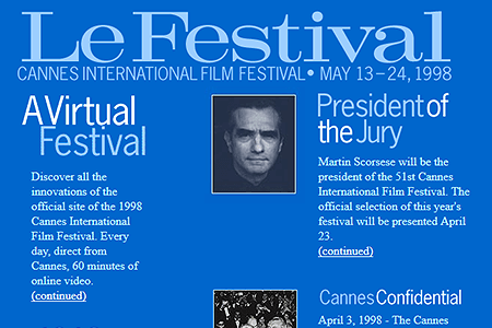 Festival de Cannes in 1998