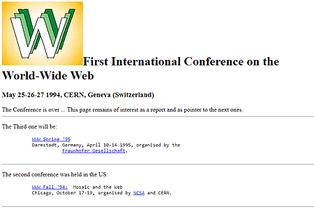 First WWW Conference 1994