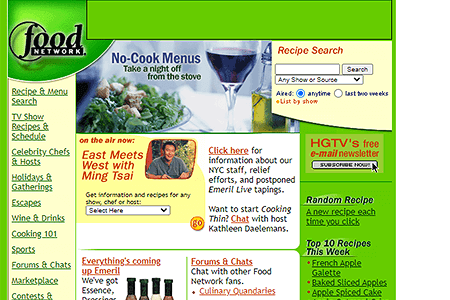 Food Network in 2001