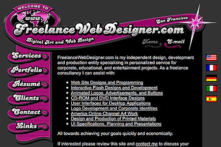 FreelanceWebDesigner.com in 2002