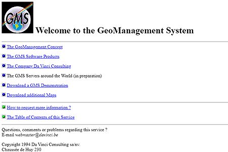 GeoManagement System in 1994