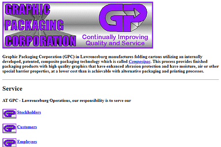 Graphic Packaging Corporation in 1994