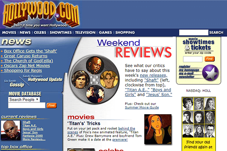 Hollywood.com in 2000