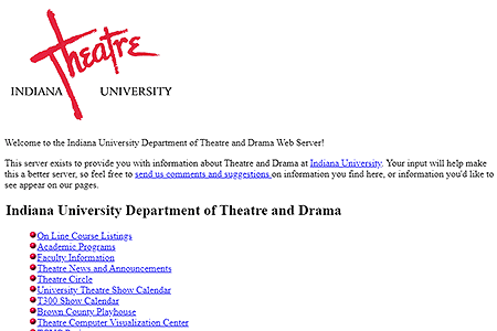Indiana University Department of Theatre and Drama in 1994