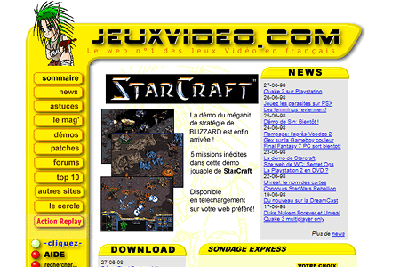 Jeuxvideo.com in 1998